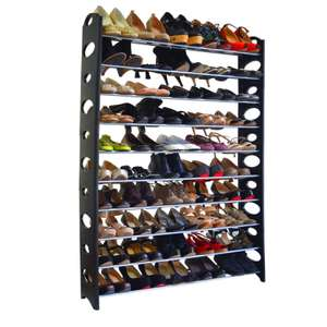 50 Pair Shoe Rack - £15.29 @ TMart