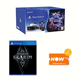 PlayStation VR Starter Pack with Skyrim or doom VR plus NOW TV 2 Months £299 @ game