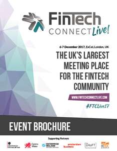 fintech live - london - 6/7 december, 2017 - 150 free conference passes worth £349 each