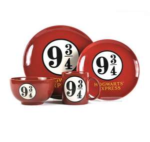 Harry Potter - Platform 9 3/4 4 piece dinner set free click and collect no code required - £24 @ Debenhams