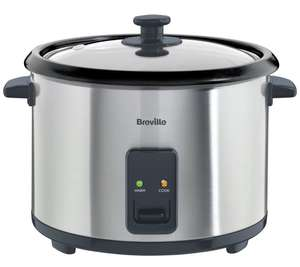 Breville ITP181 1.8L Rice Cooker and Steamer - St/Steel £24.99 Argos