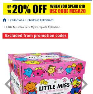 Little miss box set - £19.99 @ The Works