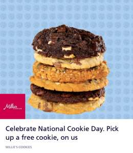 Free Millie's cookie with O2 Priority