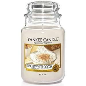 Yankee Candle Spiced White Cocoa Large Jar was £23.99 now £11.99 (free delivery) Internet Gift Store