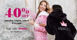 Boux Avenue 40% selected items- onesies, capes, robes