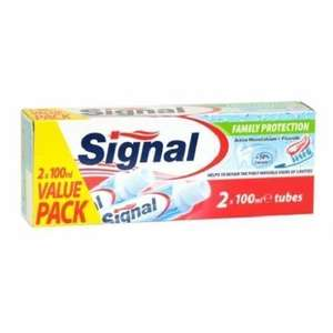 Signal Family Protection Fluoride Toothpaste 2 x 100ml Tubes - Value Pack - £1.49 @ Savers