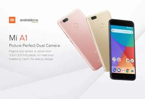 [HK Stock][Official Global Version]Xiaomi Mi A1 5.5 inch Smartphone Android One Dual Rear 12.0MP Cam Snapdragon 625 4GB 32GB IR Remote Control Full Metal Body - Black - £142.82 using code @ Geekbuying