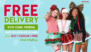 Claire's Free delivery using code