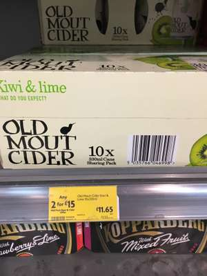 Old Mout Cider 2 packs for £15 at Morrisons
