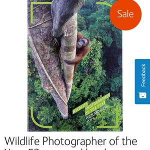 Natural History Postcard Book - Wildlife Photographer of the year £4