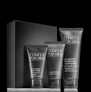Clinique For Men daily oil control set £17.50 @ Clinique + FREE delivery