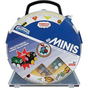 Home Bargains Thomas & Friends Minis DC Super Friends Collectors Playwheel Case with 2 Engines, £8.99