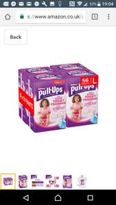 Large Huggies pull ups 4x14 packs subscribe and save 7.60 @ Amazon