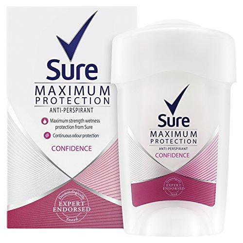 Sure Women Maximum Protection Confidence Anti-Perspirant Deodorant Cream, 45ml, Pack of 6