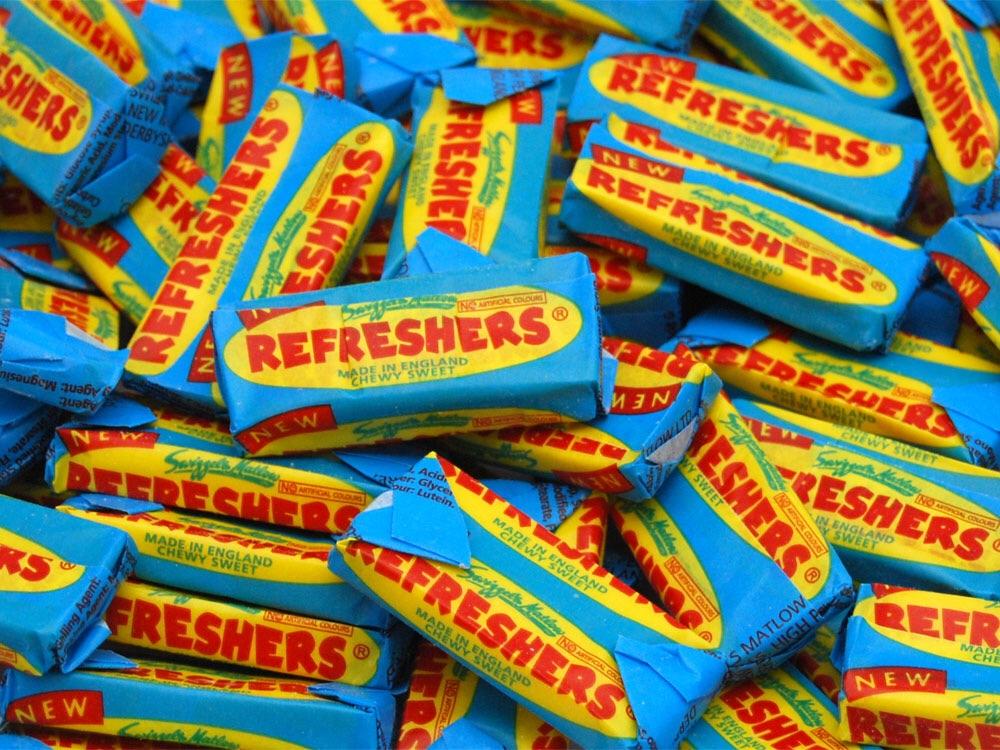 Refreshers (suitable for vegans) Asda - 5 packs for £1