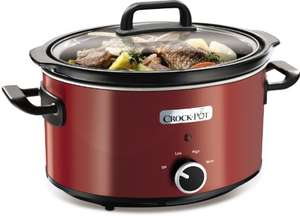 Crock-Pot Slow Cooker, 3.5 L - Red - £18.99  (Prime) / £23.74 (non Prime) at Amazon