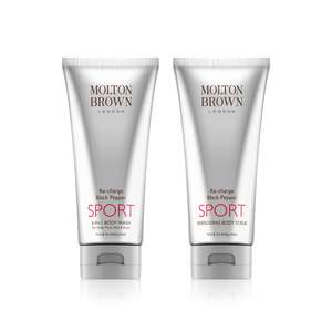 Molton Brown Day 5 of 12 day of Christmas - Black pepper sport 4-in-1 wash and scrub set £35