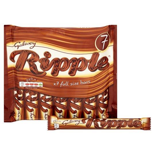 Galaxy Ripple Chocolate Multipack 7 X33g - Bounty Chocolate Multipack 7 X28.5g - Snickers 7 Pack 291.9g - Twix Chocolate Multipack 7 X50g - Mars 7 Pack 275.8g -  £1.25 @ Tesco (from 6th Dec)