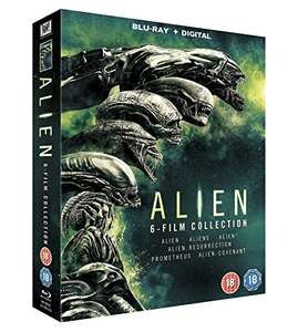Alien 1-6 Boxset [Blu-ray] [2017] £19.99 (Prime) / £21.98 (non Prime) at Amazon