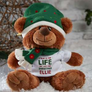 Personalised Christmas Teddy Bears £12.99 + £3.99 delivery - giftpup