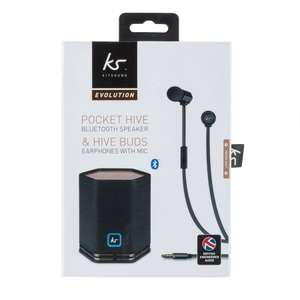 Kitsound Hive Headphones and Speaker Set - Rose Gold £16.99 Robert Dyas