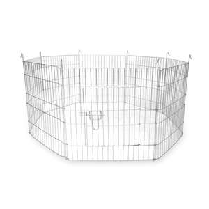 Large Outdoor 8 Panel Enclosure Pet Playpen with Lockable Door £13.99 without Net / £14.99 With Net Delivered with code @ Shop4world