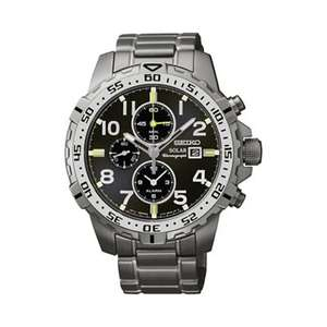 Seiko - Men's solar chronograph grey bracelet, £135 from Debenhams