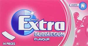 Wrigley's Extra Bubblegum Flavour Chewing Gum 14 Pieces x 12 - Was £9.00, Now £7.20 (Prime) / £11.19 (non Prime) at Amazon