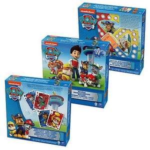 Paw Patrol Games 3 Pack £4.80 at The Entertainer