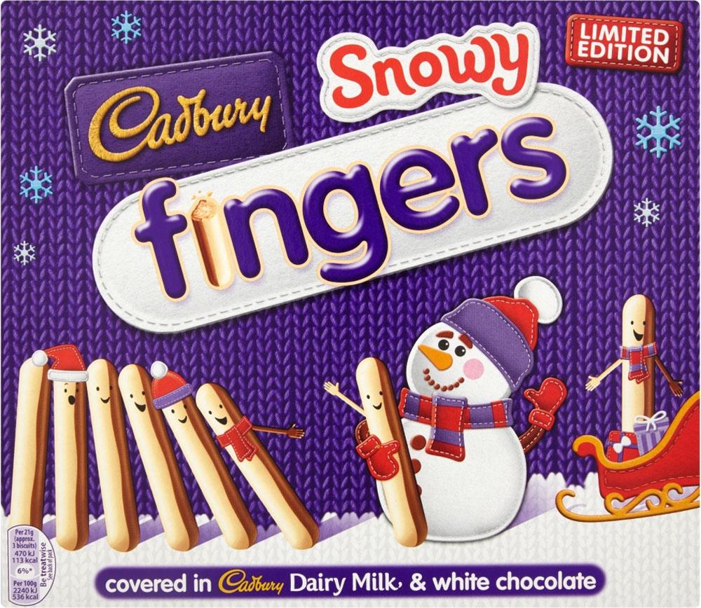 Cadbury Snowy Fingers (2 x 115g) was 2.70 now £1.35 / Cadbury Milk Chocolate Fingers Twinpack (228g) was £2.50 now £1.50 @ Sainsbury's