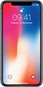 iPhone X, 12gb data, unlimited calls and texts, £460 upfront, £29 a month - mobiles.co.uk