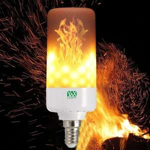YWXLight E14 LED Flame Effect Fire Light Bulb AC85-265V £6.01 Delivered @ gearbest