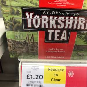 Yorkshire tea 160 £1.20 instore @ Tesco express