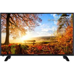 "Techwood 43AO4USB 43"" Freeview HD and Freeview Play Smart 4K Ultra HD TV £279 ( use discount by opening an account and could get it for £274 see desc) @ AO"