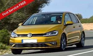 Volkswagen Golf Diesel Hatchback 1.6 TDI GT 5 Door Manual (2018), 8000 miles, 24 month lease deal £197.81 a month, £1780.29 initial rental inc VAT, First Service FREE, Christmas special offer @ Key Fleet Direct - Total Cost: £6568.72