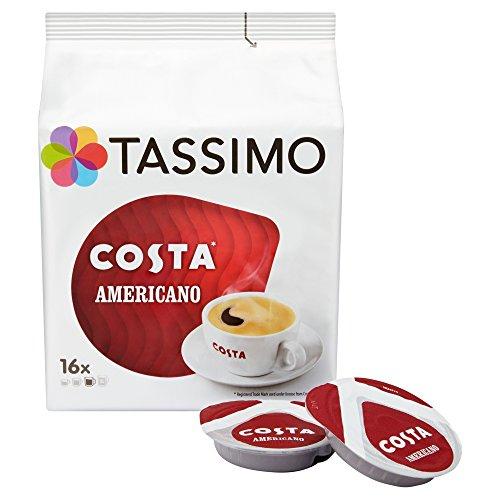 80x Costa Tassimo Americano & many more (5x 16 packs) £16.65 prime / £21.40 non prime Amazon