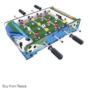 Half price games tables on Tesco direct e.g Hypro Table Top Football Game £10