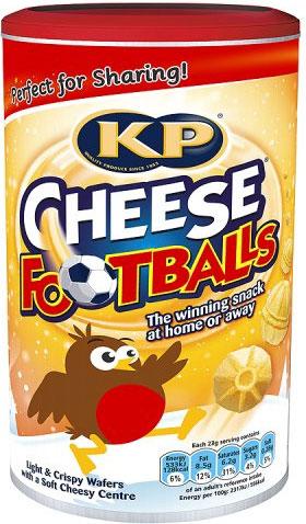 KP Cheese Footballs (142g) was £3.69 now £1.50 @ Waitrose