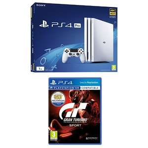 PS4 Pro White and Gran Turismo Sport - £299.99 @ Amazon