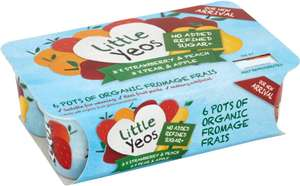 Little Yeos 4 Organic Fruity Favourite Yogurts (4 x 90g) + Other sizes and Varieties were £1.65 now 2 packs for £2.50 @ Waitrose