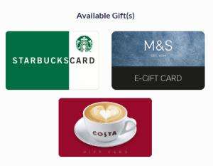 Book with NCP Car Parks and get a Free £10 Starbucks, Costa or M&S Gift card (Selected airport car parks)