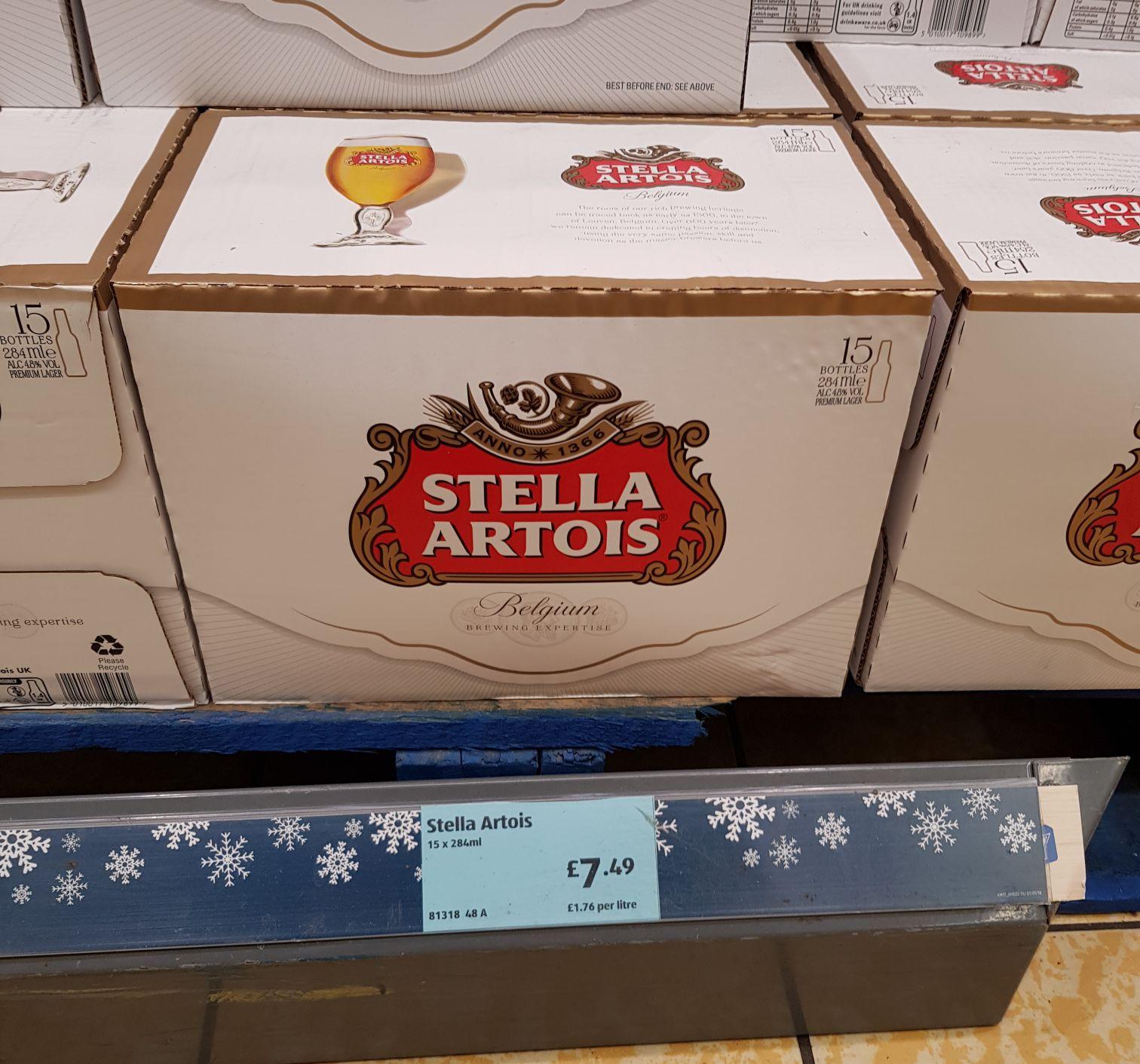 Stella Artois 15x284ml Bottles £7.49 @ Aldi