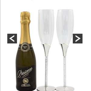 Bottle of prosecco and diamante flutes. Reduced from £39.99 Now £25.99 @ Very