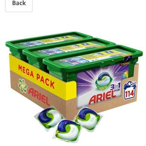 114 Ariel 3 in 1 colour pods in warehouse deals £14.99 Prime