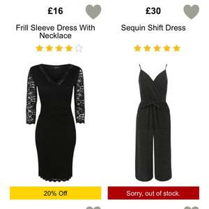 20% off ladies dresses on george @ Asda (cheapest £8)
