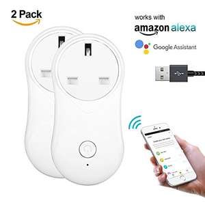 WIFI Smart Plug x2 £21.49 Sold by JingDL and Fulfilled by Amazon
