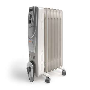 Vax ACH1V101 Power Heat Oil-Filled Radiator, 1500 W, White/Silver + 2 years guarantee - £19.99 delivered @ Vax