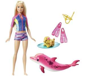Barbie dolphin magic snorkel fun doll and friends half price £12.99 Argos