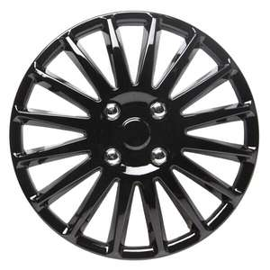 "13"" Wheel Trims (curb sensors) set of 4, Gloss Black £7.90 -  CarParts4Less"