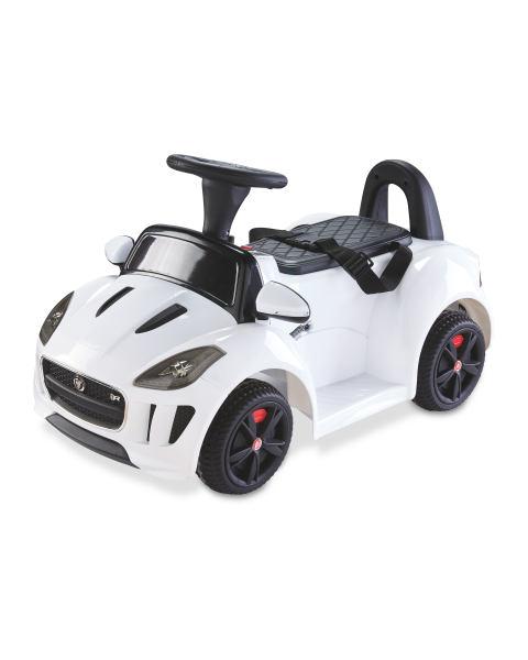 White Ride On Kids' Jaguar £59.99 & Black Ride On Kids' Land Rover £74.99 at in store at Aldi